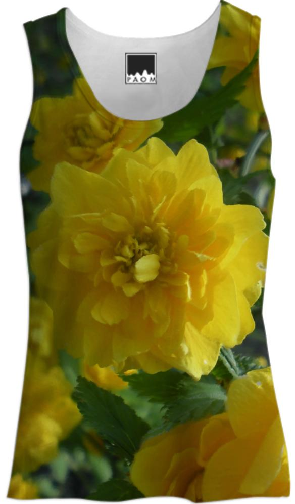 Yellow Flowers 1701 Women s Tank