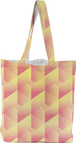 Geometric Pink Yellow TOTEBAG