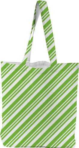 Bright Green Diagonal Stripes