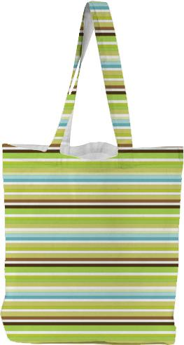 Cute brown green retro stripes