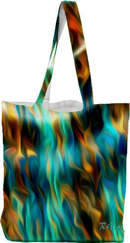 Joyful waves tote bag