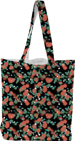 Sprouted Spirals Orange and Green Tote Bag