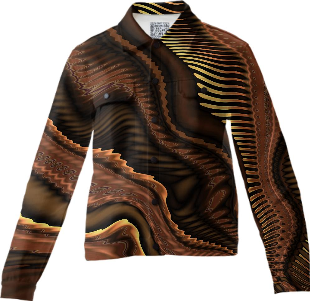 Contemporary Abstract 370 in Brown Twill Jacket