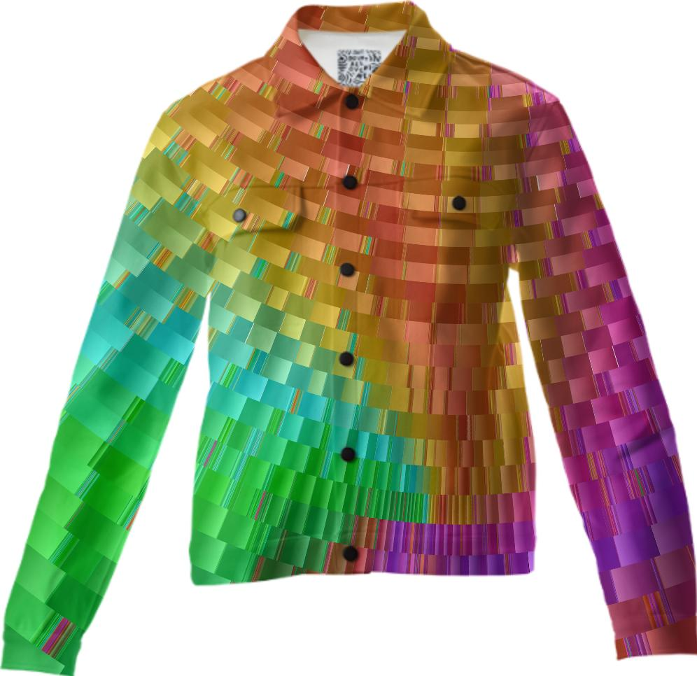 Fractal Weaving a Dream Abstract Twill Jacket