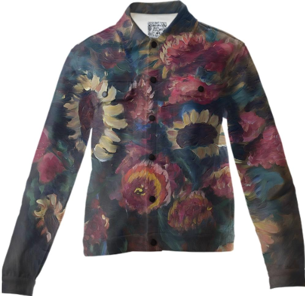 The Sunflower Bouquet Twill Jacket