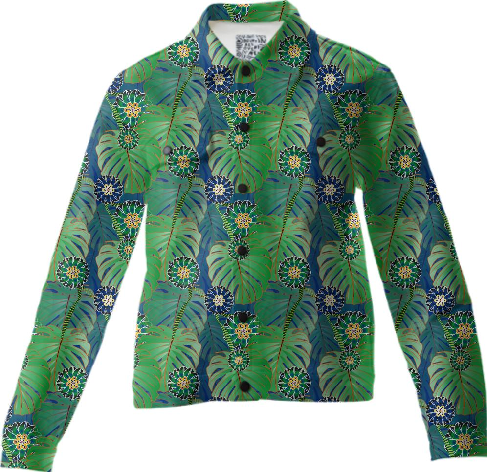 Tropical plant Twill Jacket