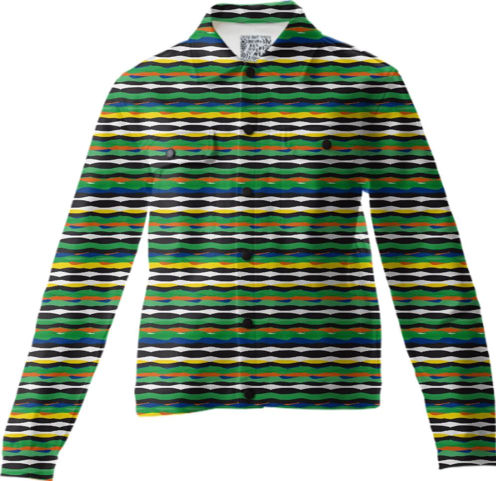 Tropical Stripes Twill Jacket