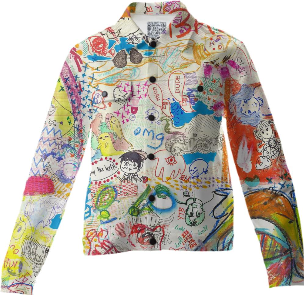 YTB 7 PATTERN X Print All Over Me Jacket