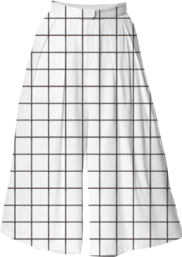 LU WHITE GRID VP CULOTTE