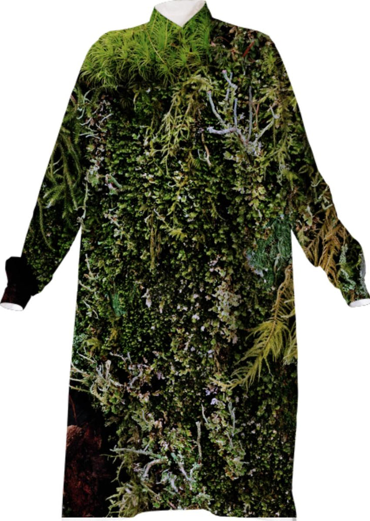 ADRIAN GAUT MOSS GREEN VP SHIRTDRESS