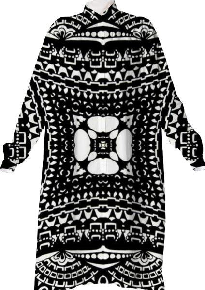 Elaborate black and white pattern