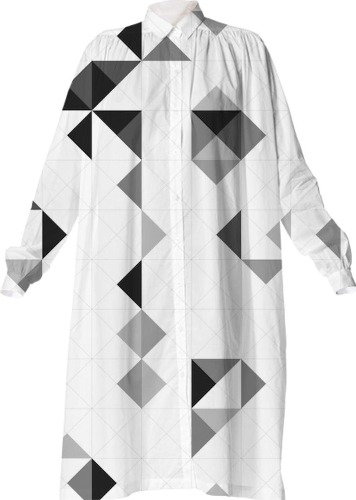 OLAF NICOLAI GREYSCALE PATTERN VP SHIRTDRESS