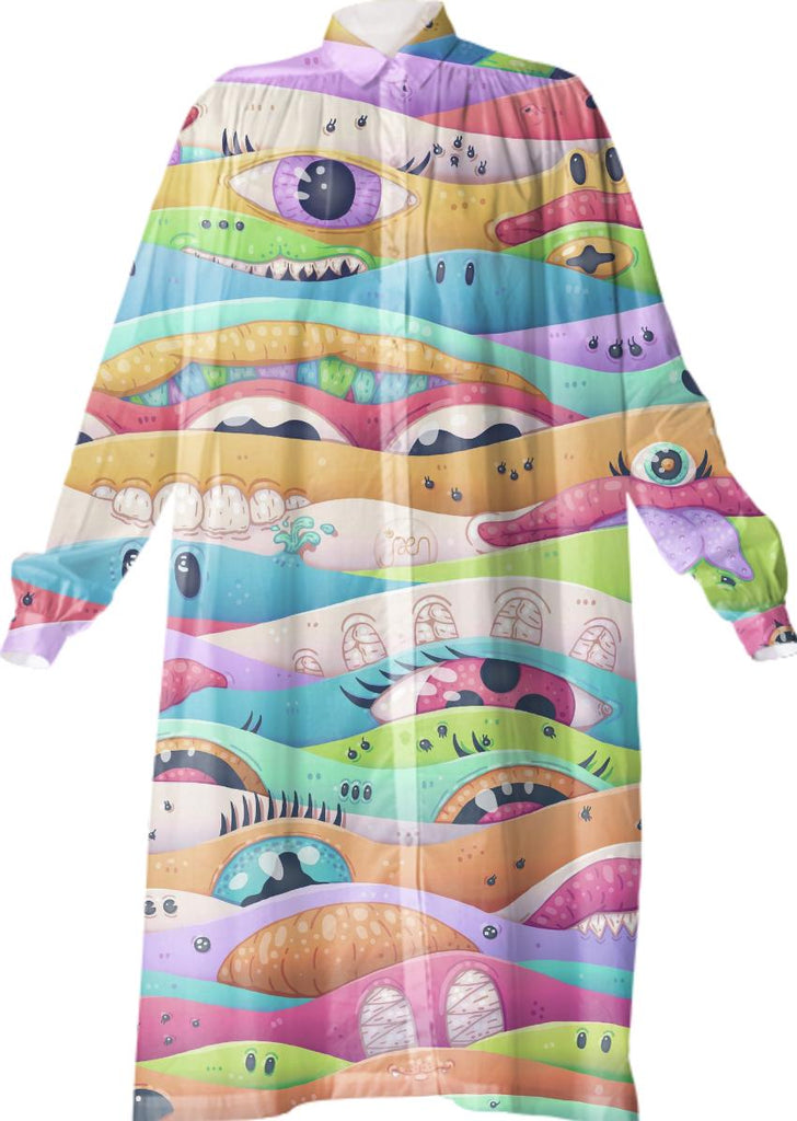 Psychedelic M Shirtdress