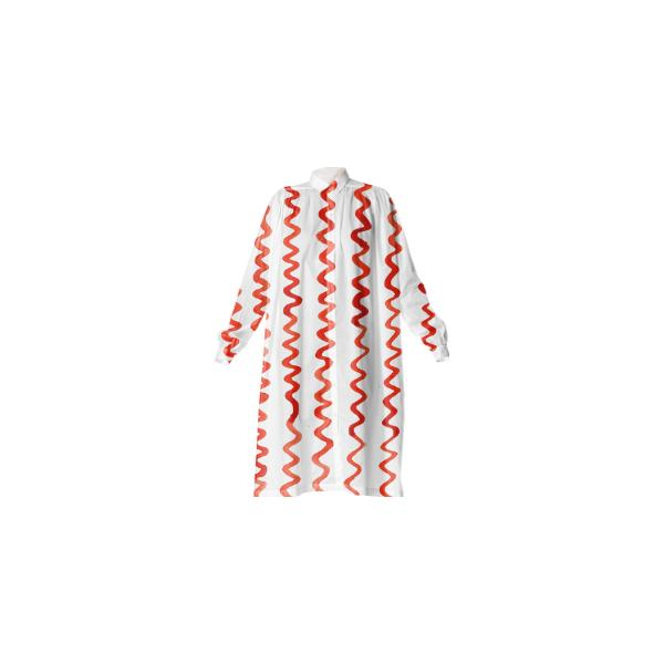 Squiggle Stripe Day Dress