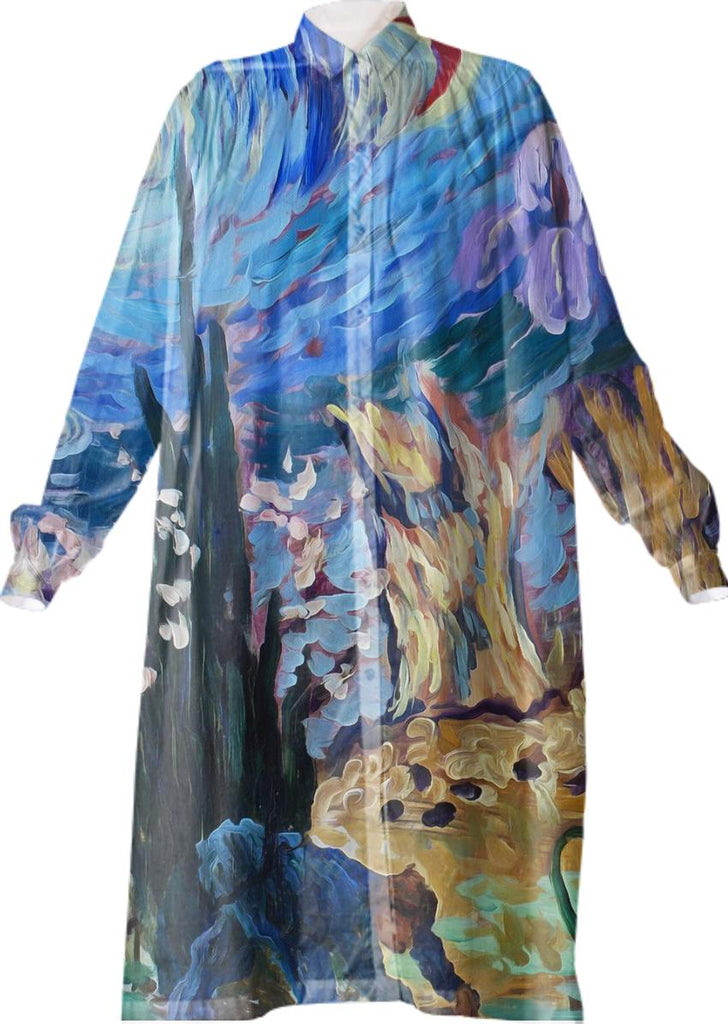Van Gogh Spirit Shirt Dress