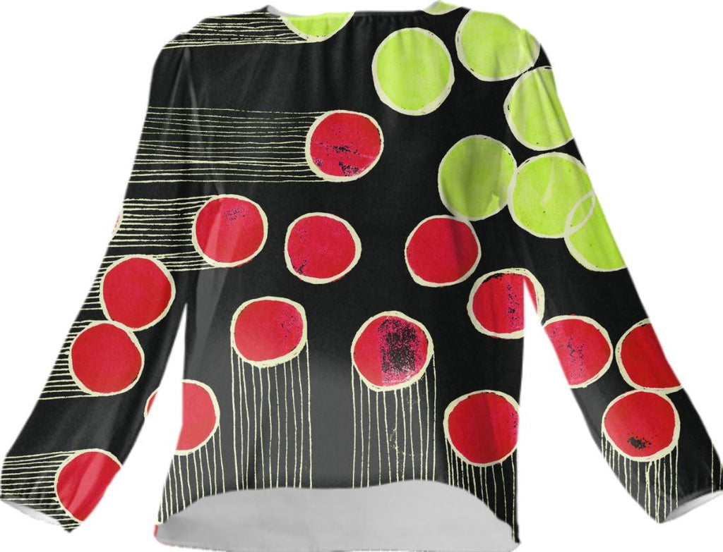 bingo fireworks silk top