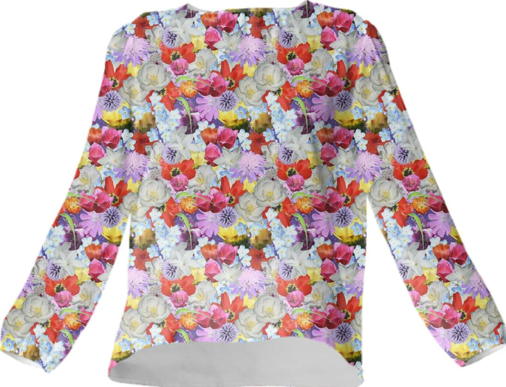 Every Flower Covered Blouse