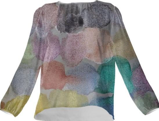 Watercolor Silk Top