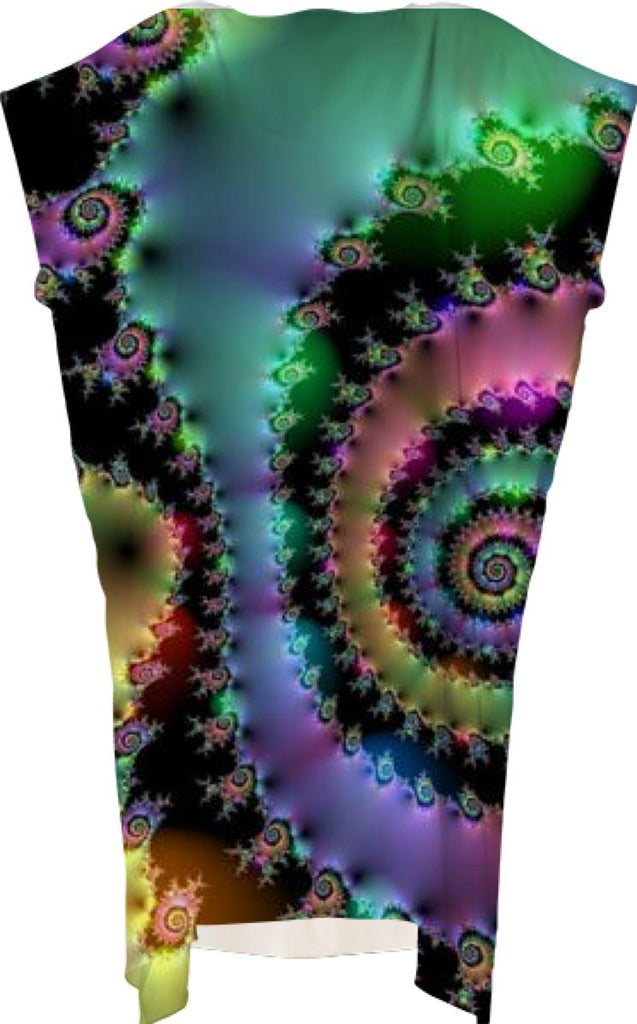 Satin Rainbow Spiral Curves Through the Cosmos