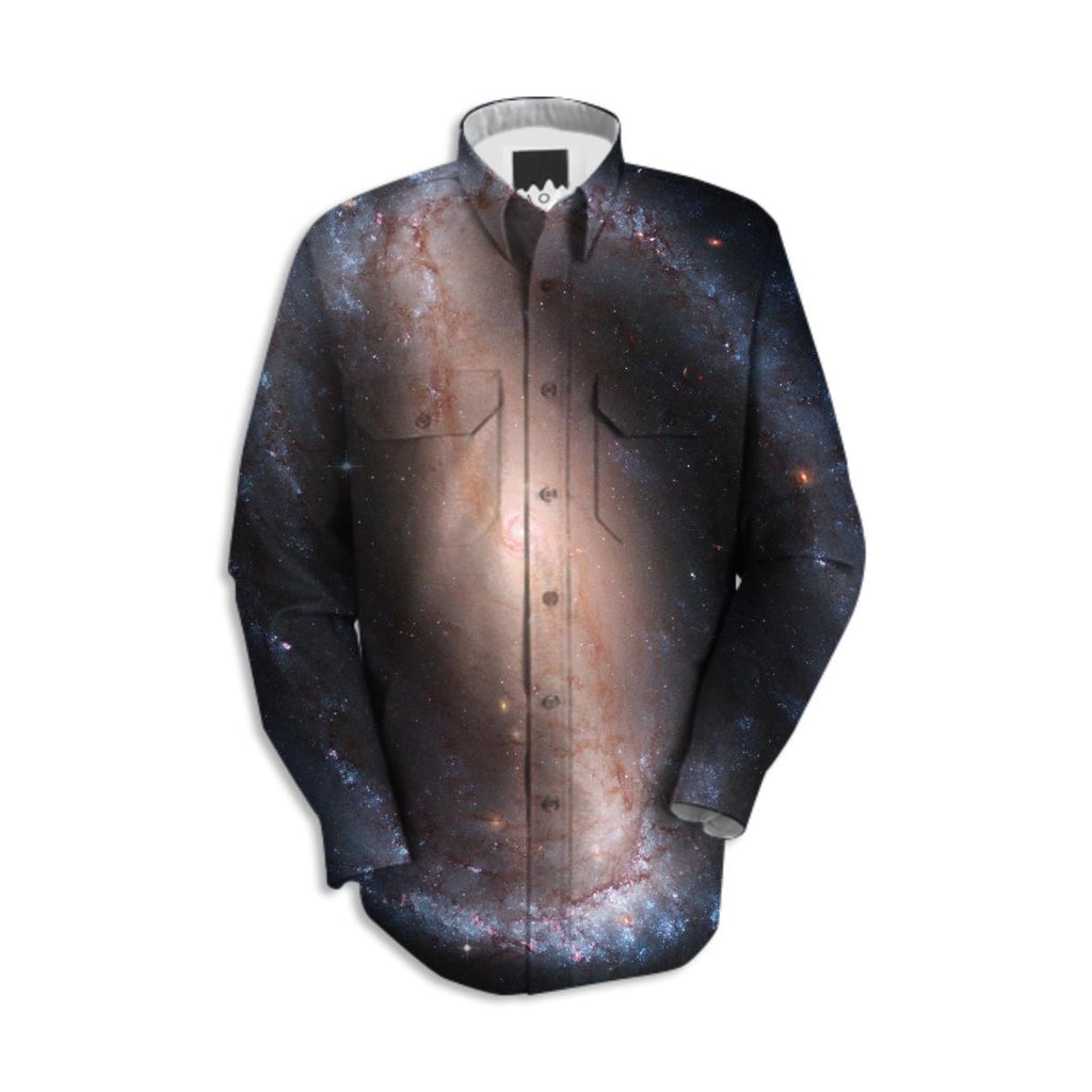 Barred Spiral Galaxy Workshirt