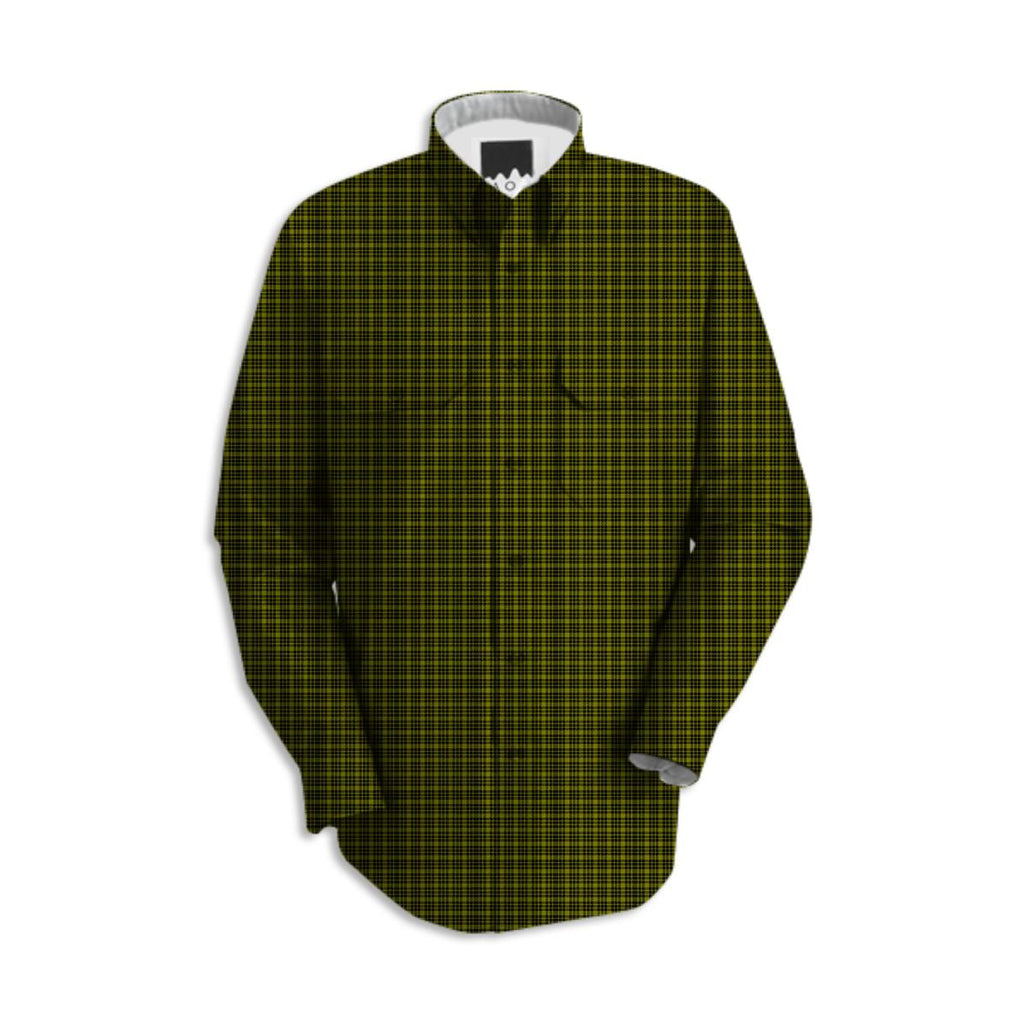 Black and Green Plaid Work Shirt