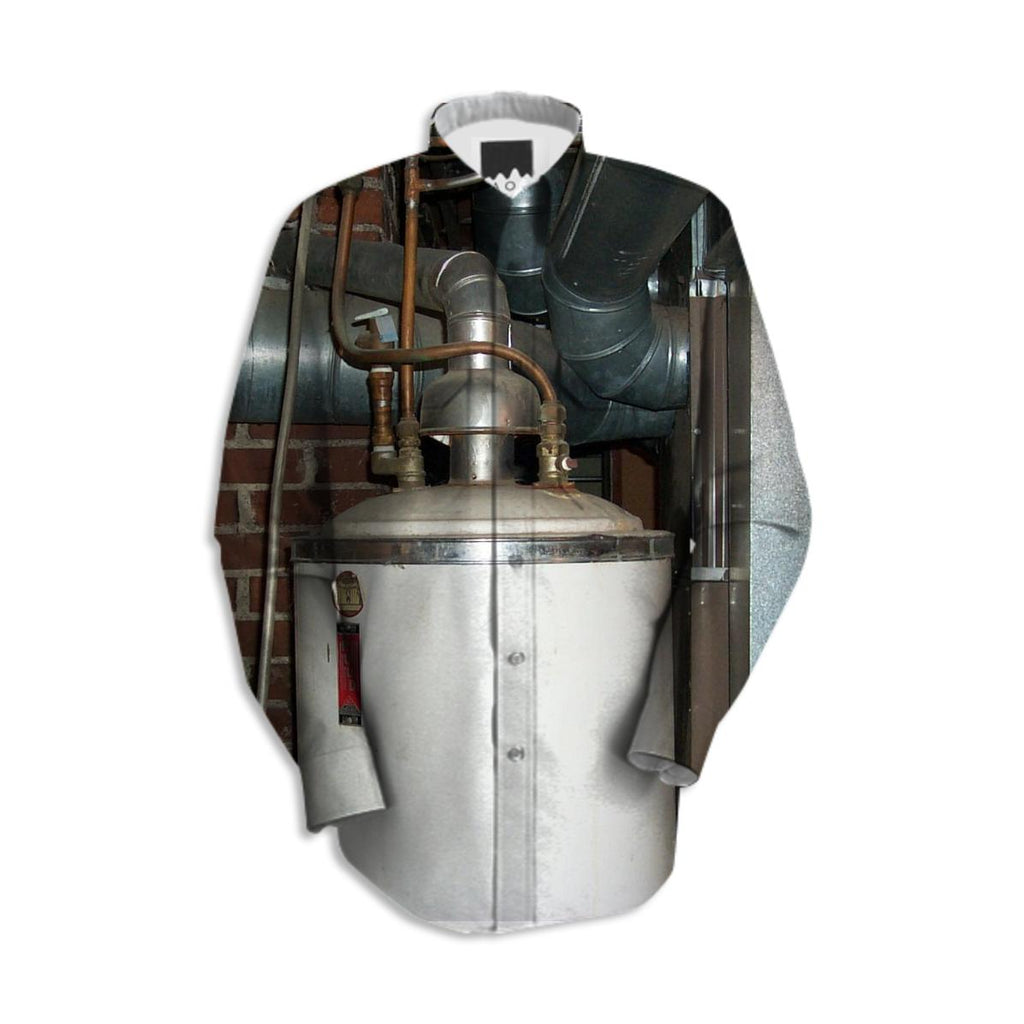 Old water heater long sleeve shirt