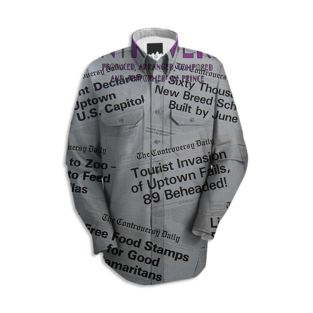 Prince Controversy Back Cover Work Shirt