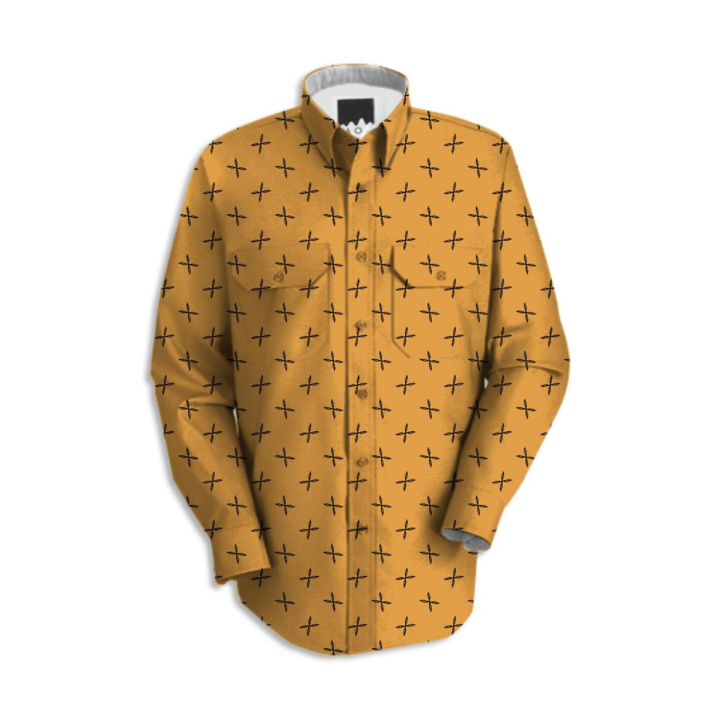 Yellow Pattern Work Shirt