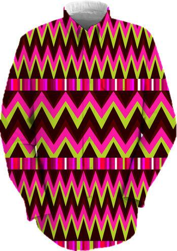 Abstract pink zigzag pattern