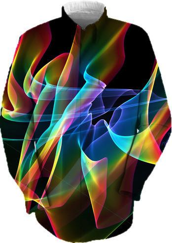 Aurora Ribbons Abstract Fractal Rainbow Veils