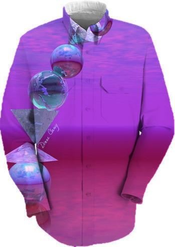 Balancing Abstract Fuchsia and Violet Equilibrium
