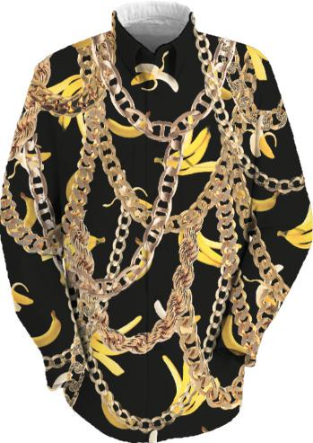 Banana Chainz Gold Black Fancy