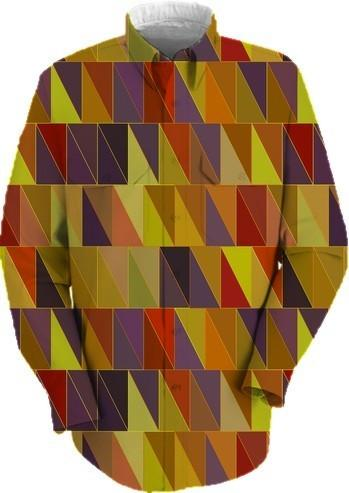 Fall Colors Geometric Abstract Triangles