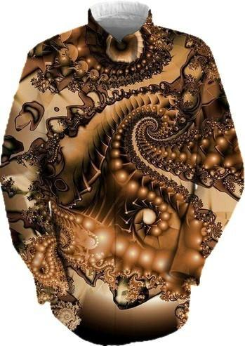Shades of Copper and Brown Abstract Fractal