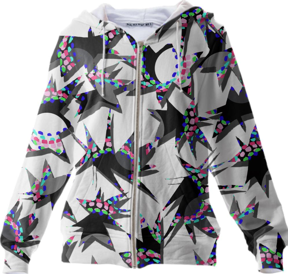 abstract hedgehog graphic geometric hoodie