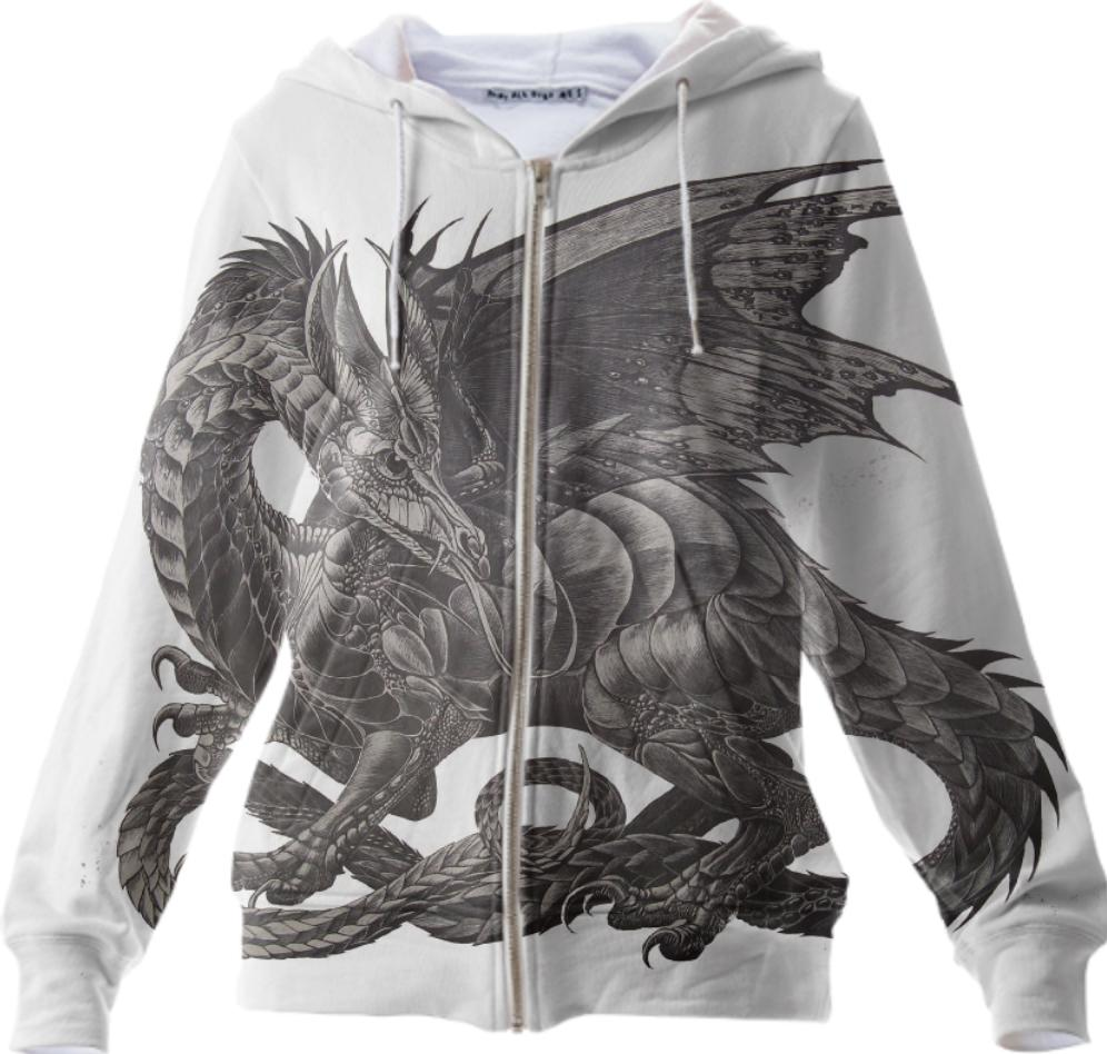 Dangerass Dragon Zipper Hoodie