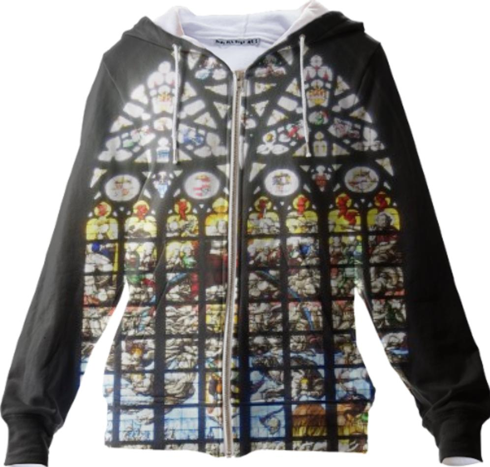 Stained Glass Zip Up Hoodie