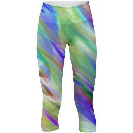 Colorful digital art splashing G401 YOGA PANTS