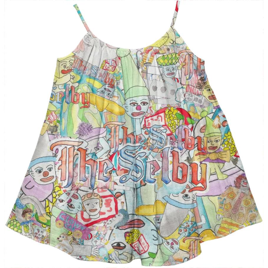 PAOM, Print All Over Me, digital print, design, fashion, style, collaboration, theselby, Kids Tent Dress, Kids-Tent-Dress, KidsTentDress, The, Selby, Clown, Baby, autumn winter spring summer, unisex, Cotton, Kids