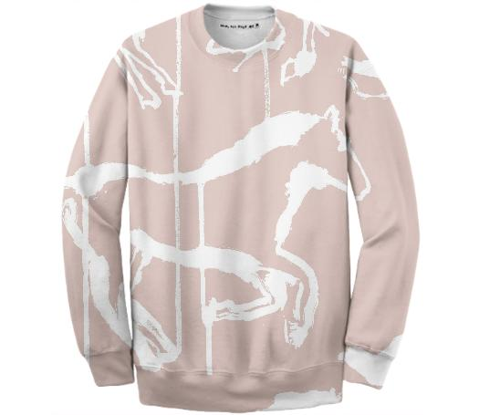 horse pink and white