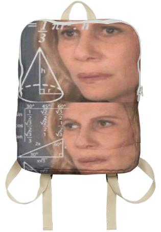 Confused Math Lady Backpack