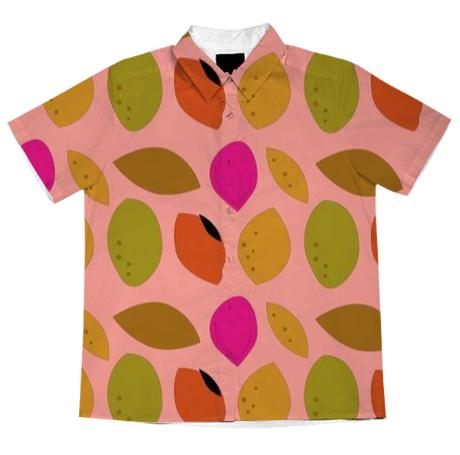 Blouse with lemons pink