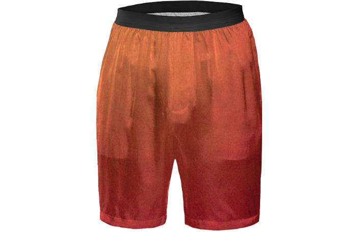 Orange And Red Basketball Shorts