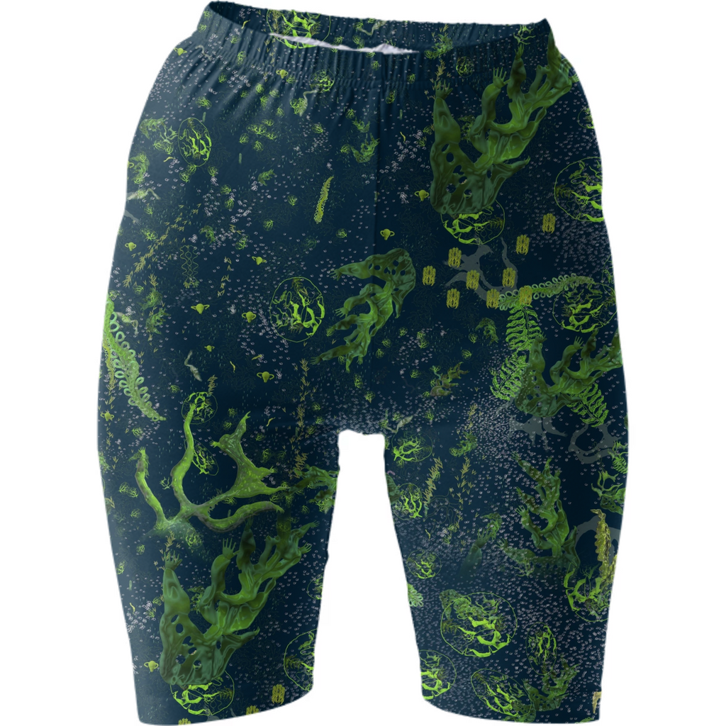 Yaloo Seaweed Garden Bike Shorts