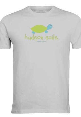 Hudson Sails Green Turtle Logo T Shirt