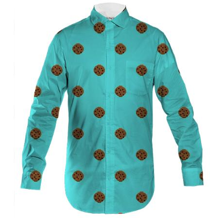 cookie button down shirt