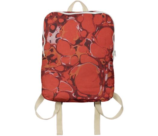 Red Marble Backpack