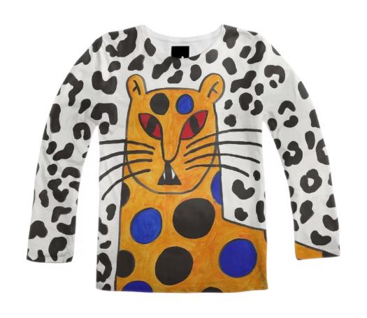 PAOM, Print All Over Me, digital print, design, fashion, style, collaboration, gentlethrills, Long Sleeve Shirt, Long-Sleeve-Shirt, LongSleeveShirt, JAGUAR, PARADISE, autumn winter, unisex, Poly, Tops
