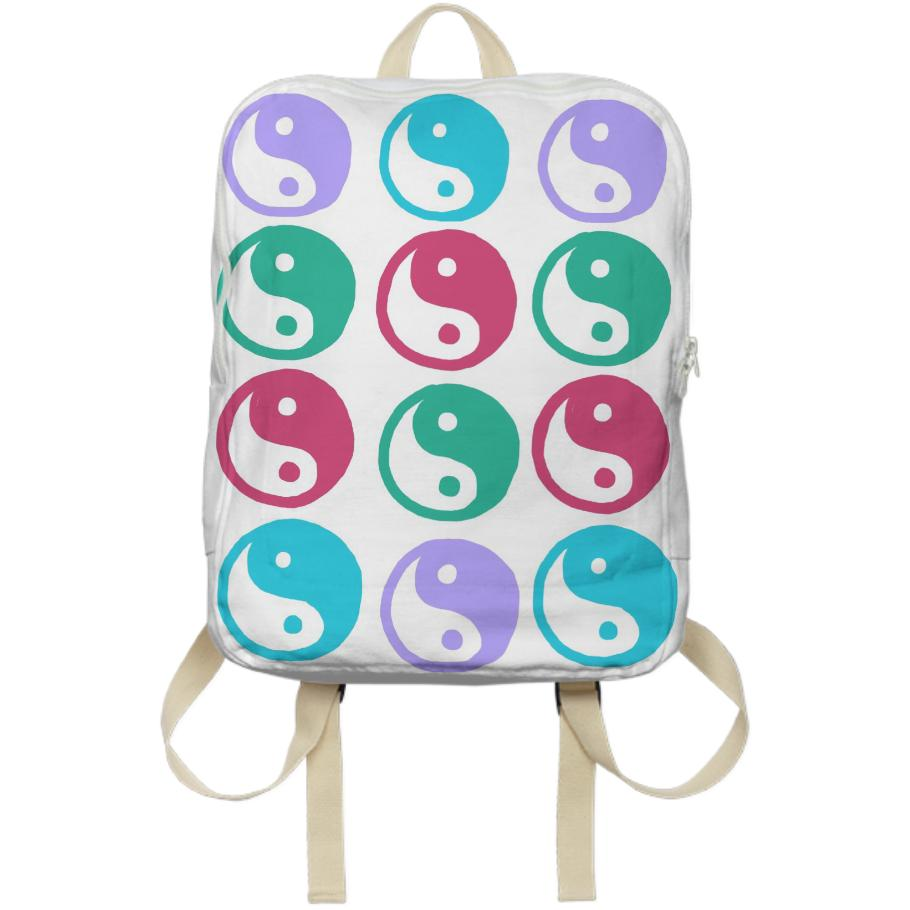 Pretty Multi Colored Yin Yang Backpack
