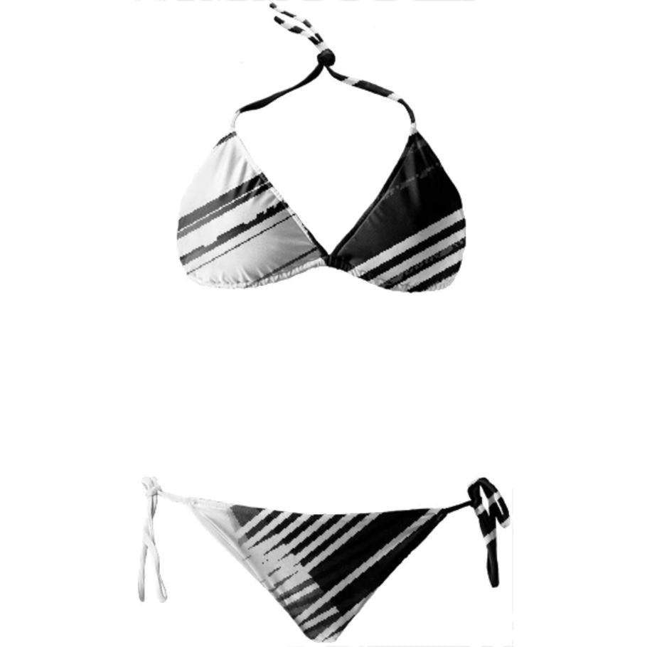 glitch minimal Black White 2 piece gmnmlBW2p004